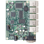 Mikrotik RouterBoard RB450 300MHz CPU, 64MB RAM, 5xEthernet, RouterOS L5