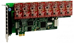 OpenVox A800E08 8 Port Analog PCI-E card + 8 FXO modules
